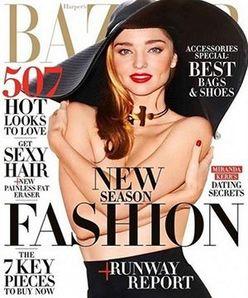 「裸が大好き♪」ミランダ・カーが雑誌の表紙でトップレス