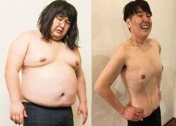 47.3キロの減量で別人に! ガリガリガリクソンの「劇的ビフォーアフター」