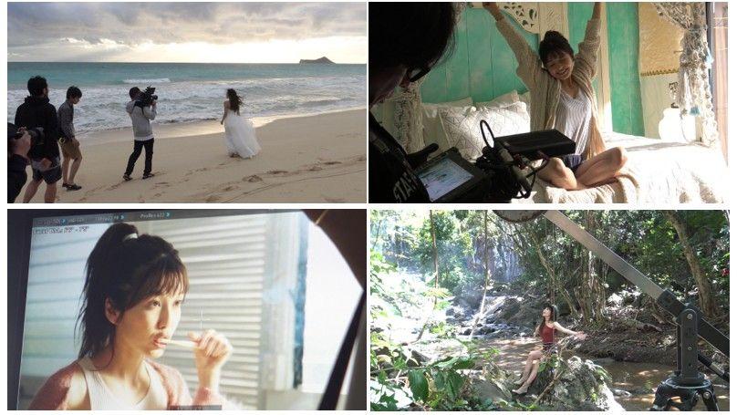AAA宇野実彩子、白い水着姿でハワイのビーチで大はしゃぎ【画像あり】の画像003
