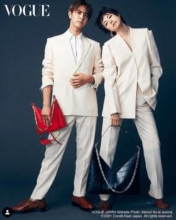 """片寄涼太&森星、白スーツの""""おそろコーデ""""に反響「美男美女」「アジアの奇跡」"""
