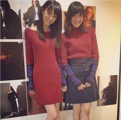 桐谷美玲の仲良しコーデ写真が「猫目姉妹懐かしい」と大絶賛