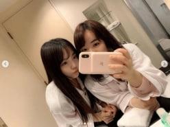 本田真凜&伊藤美誠、パジャマ姿の2ショットに「みまりんしか勝たん」の声
