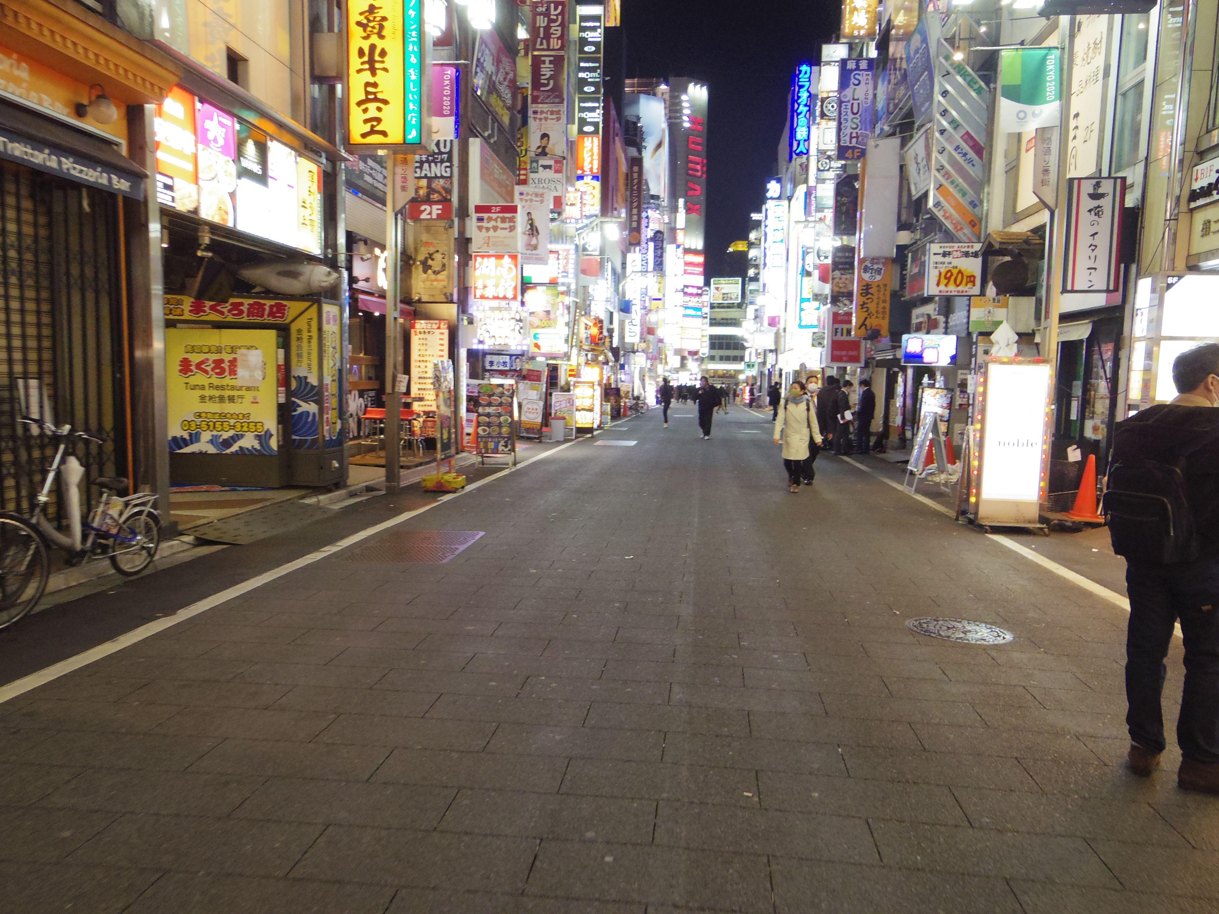 緊急事態宣言発令中「東京の夜の街を歩いてみた」【新宿・渋谷の動画】の画像002