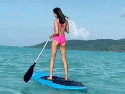 矢野未希子、水着姿でキュッと上がった美ヒップ強調「スタイル良すぎ」「目標にします」の声