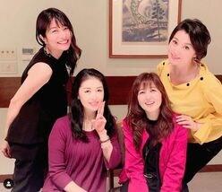 三倉茉奈「大好きなお姉さま」 藤原紀香&石野真子&藤あや子との4ショットが姉妹のよう