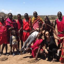 梨花、夫&息子とケニア旅行へ「マサイ族との交流」に反響続々