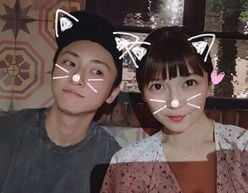 "AAA宇野実彩子&與真司郎、LAで再会! ""猫耳2ショット""に「尊すぎます」"