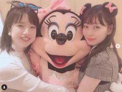"""渡辺美優紀、""""ディズニー2ショット""""に反響「世界一好きな組み合わせ」"""