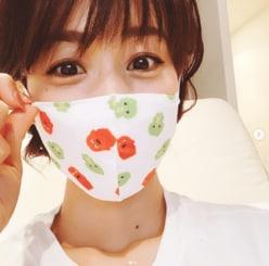 """加藤綾子、子供用マスク装着で""""驚異の小顔ぶり""""明らかに"""