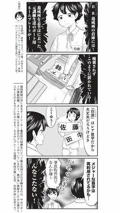 4コマ漫画『ボートレース訓練生・美波』ネームプレートのこぼれ話