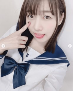 SKE48須田亜香里、27歳のセーラー服姿に「反則」「いろんな意味でヤバイ」
