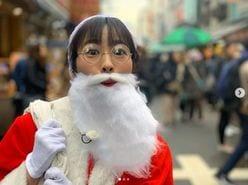 三上真奈アナ、白ひげ&丸メガネのサンタコスプレ姿に「最高のプレゼント」の声