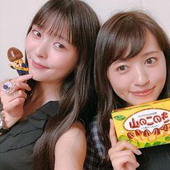 """声優の上坂すみれ&逢田梨香子、""""きのこ""""を手にした2ショットに反響「神すぎる!」"""